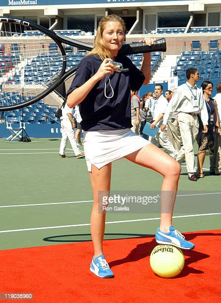 Maggie Rizer during 2003 US Open - Arthur Ashe Kids Day at USTA National Tennis Center in Queens, New York, United States.