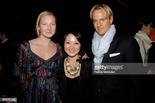 Maggie Rizer Susan Woo and Daniel Benedict attend SUSAN WOO FALL 2009 COLLECTION and LAUNCH PARTY at Above Allen on February 10 2009 in New York City