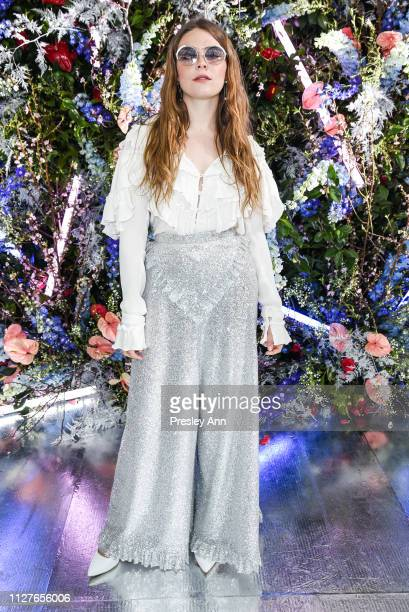 Maggie Rogers attends Rodarte FW19 Fashion Show at The Huntington Library and Gardens on February 05 2019 in San Marino California