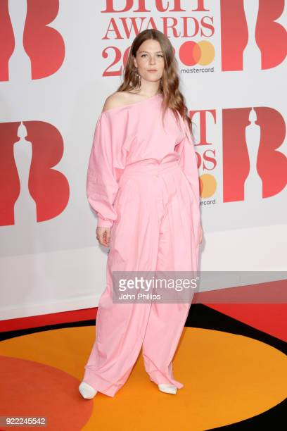 AWARDS 2018*** Maggie Rogers attends The BRIT Awards 2018 held at The O2 Arena on February 21 2018 in London England