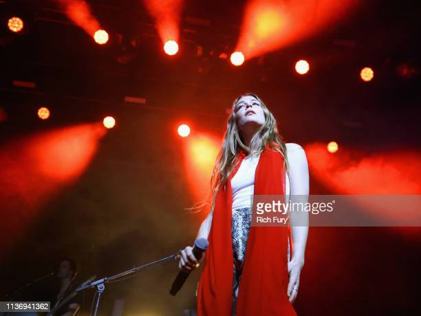 Maggie Rogers performs at Gobi Tent during the 2019 Coachella Valley Music And Arts Festival on April 13 2019 in Indio California