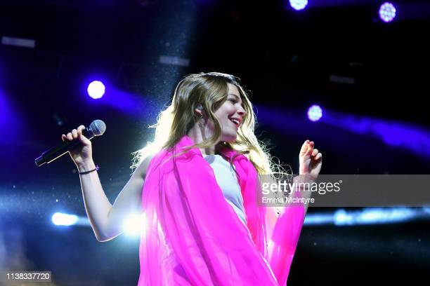 Maggie Rogers performs at Gobi Tent during the 2019 Coachella Valley Music And Arts Festival on April 20 2019 in Indio California