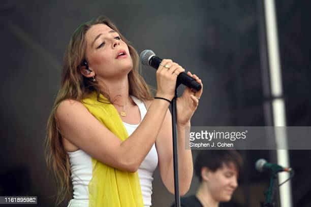 Maggie Rogers performs during Forecastle Music Festival at Louisville Waterfront Park on July 13 2019 in Louisville Kentucky