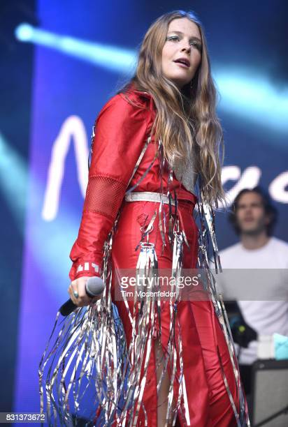 Maggie Rogers performs during the 2017 Outside Lands Music and Arts Festival at Golden Gate Park on August 13 2017 in San Francisco California