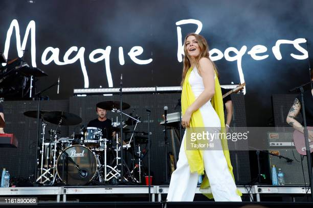 Maggie Rogers performs during the 2019 Forecastle Festival at Louisville Waterfront Park on July 13 2019 in Louisville Kentucky