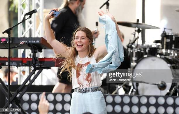 Maggie Rogers performs on NBC's Today at Rockefeller Plaza on July 12 2019 in New York City