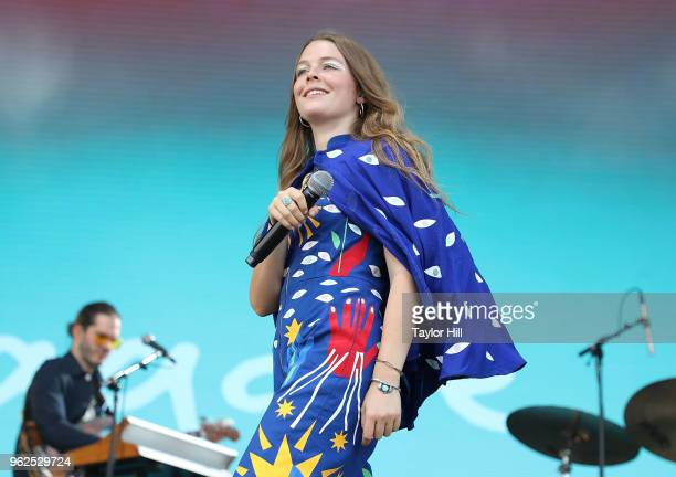 Maggie Rogers performs onstage during Day 1 of 2018 Boston Calling Music Festival at Harvard Athletic Complex on May 25 2018 in Boston Massachusetts