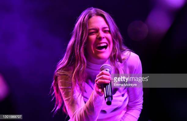 Maggie Rogers performs onstage during Spotify Hosts Best New Artist Party at The Lot Studios on January 23 2020 in Los Angeles California