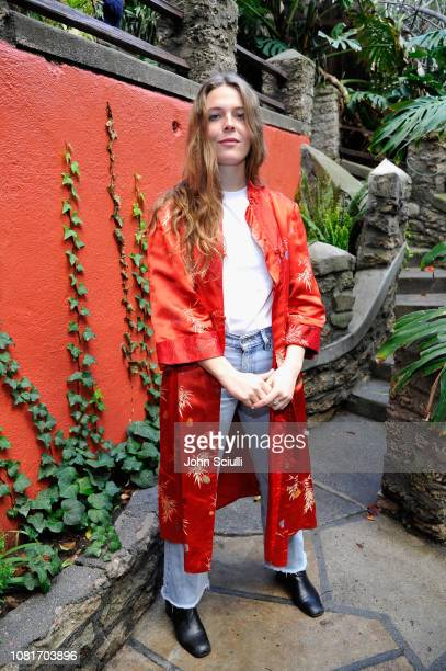 Maggie Rogers poses as Spotify Celebrates Maggie Rogers' Upcoming Debut Album Heard It In A Past Life With Her Biggest Fans at Brookledge Theater on...