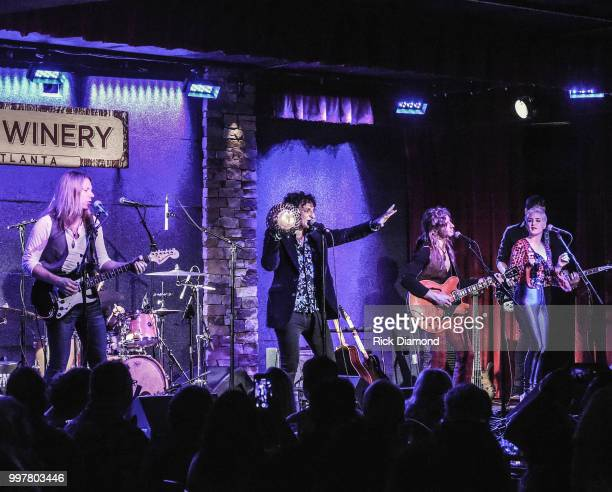 Maggie Rose joins Them Vibes onstage at City Winery Atlanta on July 12 2018 in Atlanta Georgia