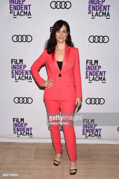 Maggie Siff attends Film Independent at LACMA hosts special screening of Billions at Bing Theater At LACMA on March 22 2018 in Los Angeles California