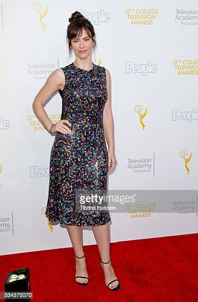 Maggie Siff attends the 37th College Television Awards at Skirball Cultural Center on May 25 2016 in Los Angeles California