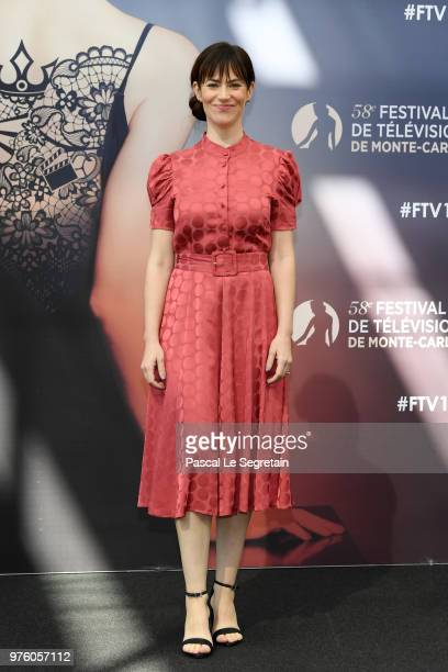 Maggie Siff from the serie Billions attends a photocall during the 58th Monte Carlo TV Festival on June 16 2018 in MonteCarlo Monaco