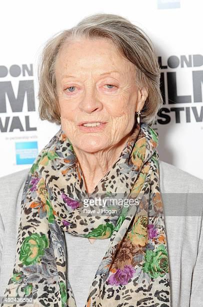 Maggie Smith attends a photocall for 'The Lady In The Van' during the BFI London Film Festival at Claridge's Hotel on October 13 2015 in London...