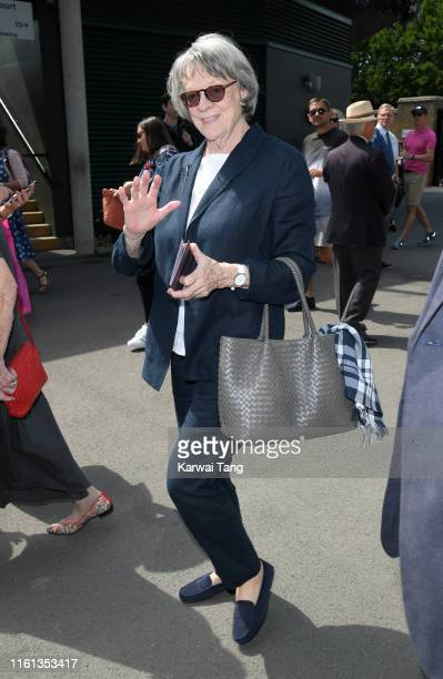 Maggie Smith attends day 10 of the Wimbledon Tennis Championships at the All England Lawn Tennis and Croquet Club on July 11 2019 in London England