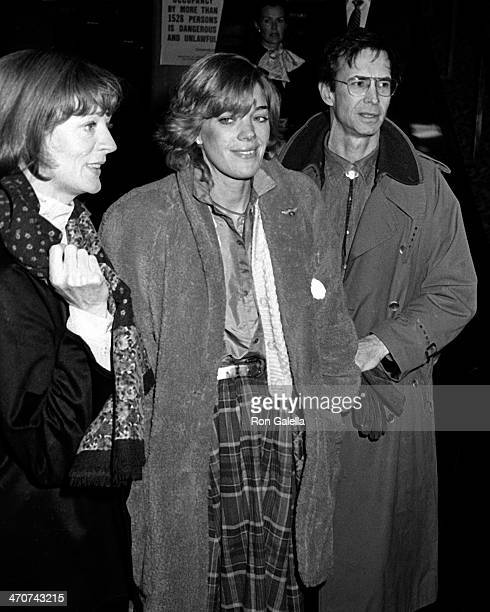 "Maggie Smith, Berry Berenson and Anthony Perkins attend the premiere of ""Chapter Two"" on December 9, 1979 at Loew's State Theater in New York City."