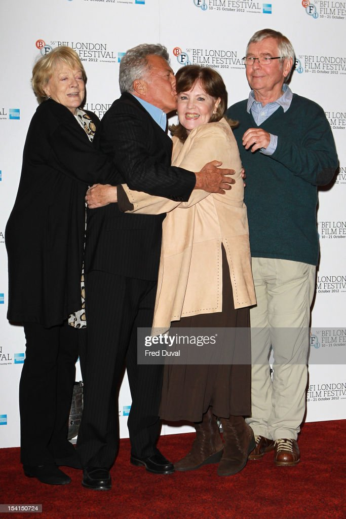 Maggie Smith, Dustin Hoffman, Pauline Collins and Tom Courtney attends the Photocall for 'Quartet' at the BFI London Film Festival at Empire Leicester Square on October 15, 2012 in London, England.