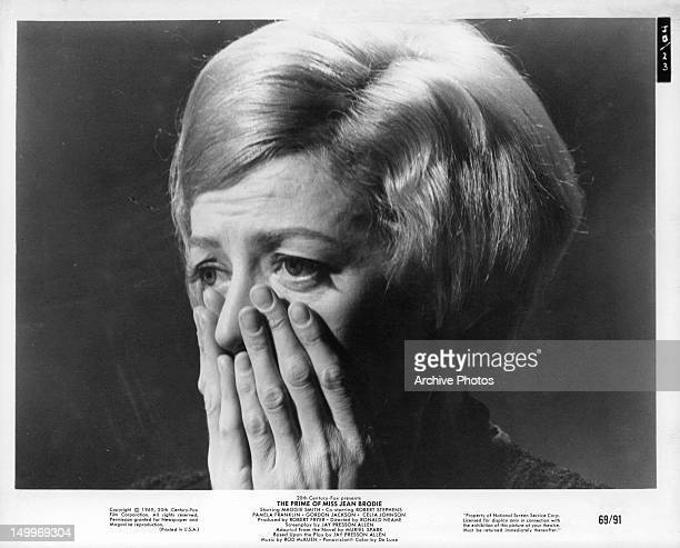 Maggie Smith is grief stricken in a scene from the film 'The Prime Of Miss Jean Brodie' 1969
