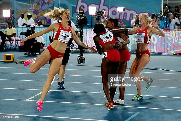Maggie Vessey, Chanelle Price, Molly Beckwith-Ludlow and Alysia Johnson Montano of the United States celebrate after winning the final of the women's...
