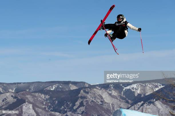 Maggie Voisin of competes in the Ladies' Ski Slopestyle final during the Toyota US Grand Prix on January 14 2018 in Snowmass Colorado