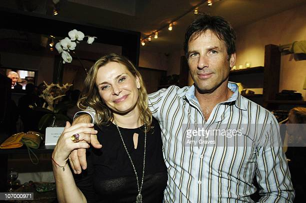 Maggie Wachsberger and Hart Bochner during Malgosia Store Opening at Malgosia in Los Angeles California United States