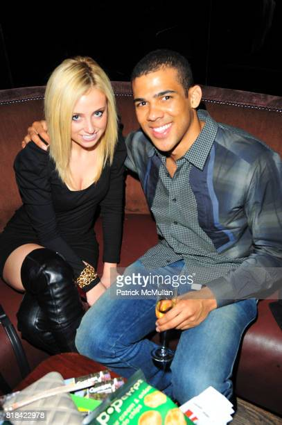 Maggie Warner and Adriel Reboh attend American Red Cross Concern Worldwide and The Edeyo Foundation Fundraiser at 1 OAK on January 21 2010 in New...