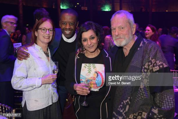 Maggie Weston Adrian Lester Meera Syal and Terry Gilliam attend the Roundhouse Gala an evening raising money for the venue's charitable work with...