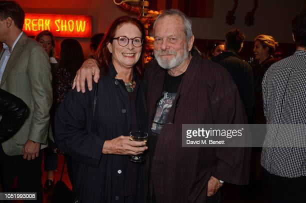 Maggie Weston and Terry Gilliam attend a screening of Alfonso Cuaron's Roma hosted by Netflix David Heyman at The Ham Yard Hotel on October 12 2018...