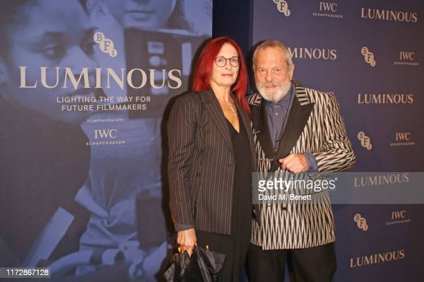 Maggie Weston and Terry Gilliam attend the BFI IWC Luminous Gala at The Roundhouse on October 1 2019 in London England During the event Oscarwinning...