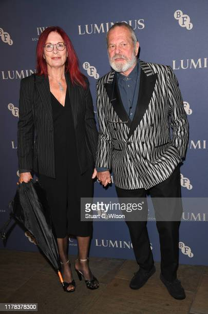 Maggie Weston and Terry Gilliam attend the BFI Luminous Fundraising Gala at The Roundhouse on October 01 2019 in London England