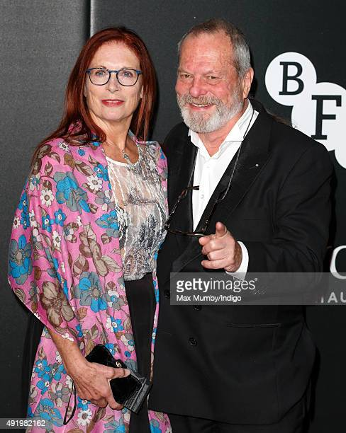 Maggie Weston and Terry Gilliam attend the BFI Luminous Fundraising Gala at The Guildhall on October 6 2015 in London England