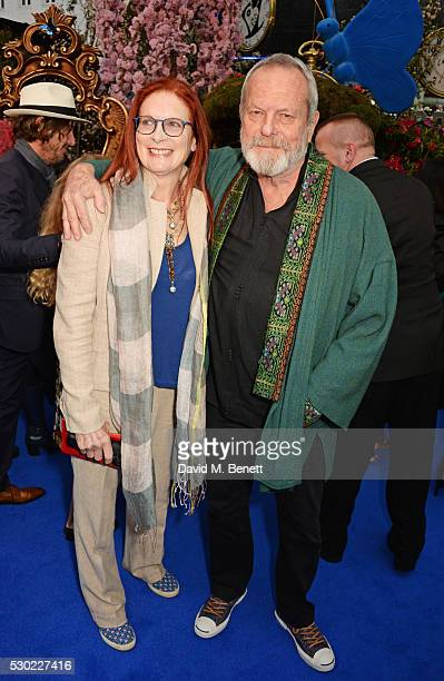 Maggie Weston and Terry Gilliam attend the European Premiere of Alice Through The Looking Glass at Odeon Leicester Square on May 10 2016 in London...