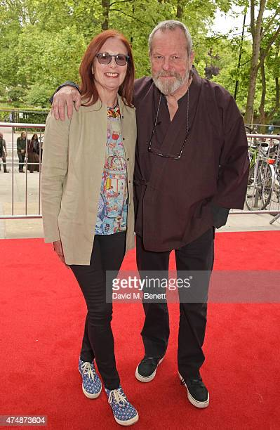 Maggie Weston and Terry Gilliam attend the London premiere of 'The True Cost' at the Curzon Bloomsbury on May 27 2015 in London England