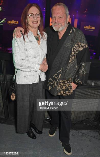 Maggie Weston and Terry Gilliam attend the Roundhouse Gala an evening raising money for the venue's charitable work with young people at The...