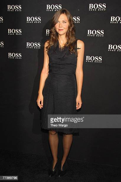 Maggis Gyllenhaal at the BOSS Black Spring 2008 Fashion Show at the Cunard Building in New York City on October 17, 2007