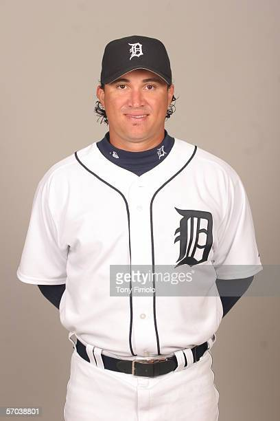 Magglio Ordonez of the Detroit Tigers during photo day at Marchant Stadium on February 26 2006 in Lakeland Florida