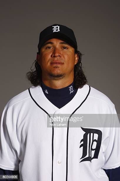 Magglio Ordonez of the Detroit Tigers poses for a portrait during Photo Day on February 23 2008 at Joker Marchant Stadium in Lakeland Florida