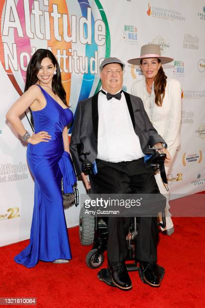 """Magi Avila, Michael Warkentin and Kelly LeBrock attend the red carpet world premiere for the documentary """"Altitude Not Attitude"""" at The Landmark on..."""