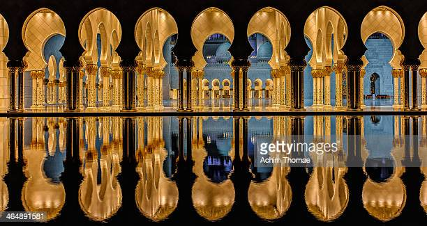magic architecture - sheikh zayed mosque stock pictures, royalty-free photos & images