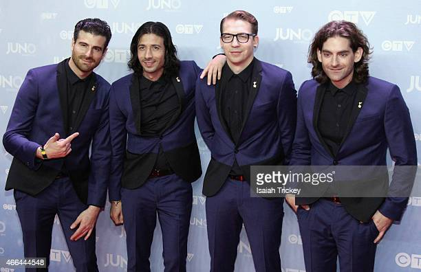 Magic arrive at the 2015 Juno Awards at FirstOntario Centre on March 15 2015 in Hamilton Canada