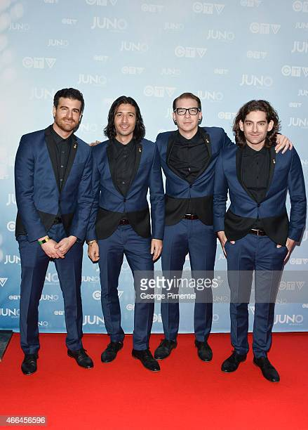 Magic arrive at the 2015 Juno Awards at the FirstOntario Centre on March 15 2015 in Hamilton Canada