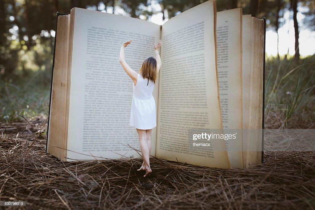 Magic big book : Stock Photo