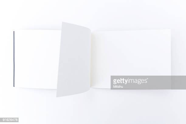 magic  book with empty pages - magazine page stock photos and pictures