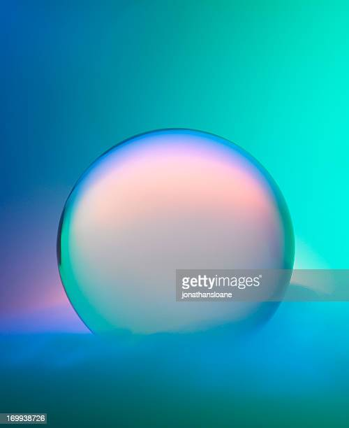 Magic crystal ball with mist and colors