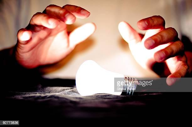 Magic Hands Light Up A Bulb