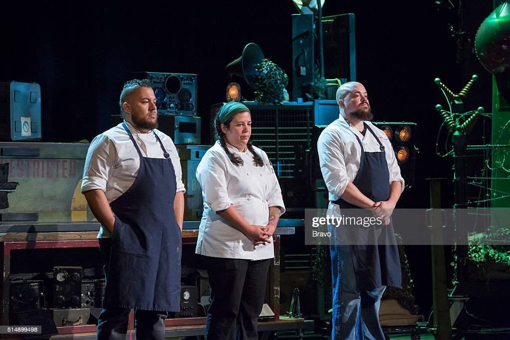 TOP CHEF -- 'Magic Hour' Episode 1314 -- Pictured: (l-r) Amar Santana, Marjorie Meek-Bradley, Isaac Toups --