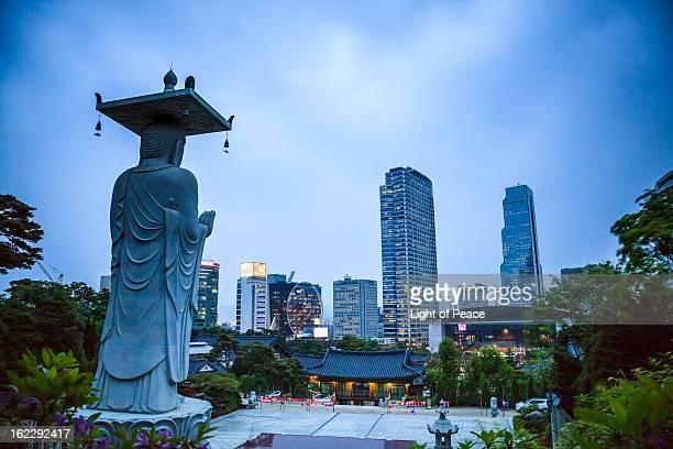 Magic Hour of Bongeunsa Temple in Gangnam, Seoul