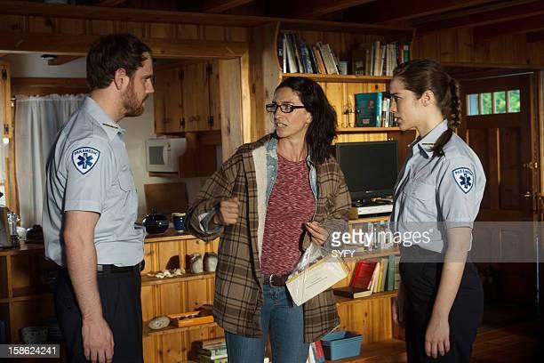 HAVEN Magic Hour Part1 Episode 7 Pictured Andrew Bush as Joseph Brenter Claudia Black as Moira Melanie Scrofano as Noelle