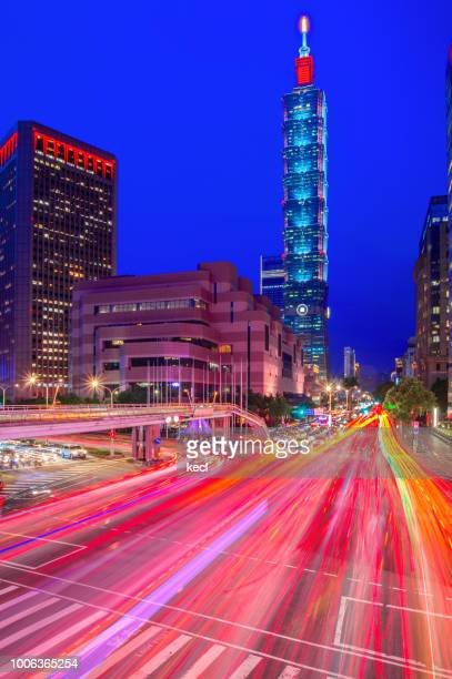 magic hour @ taipei 101 - president of taiwan stock pictures, royalty-free photos & images