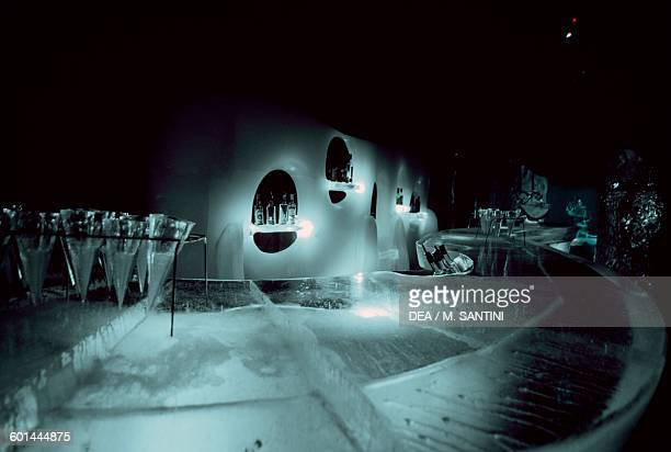 Magic Ice bar and art gallery made out of ice Svolvaer Austvagoy Lofoten islands Nordland county Norway